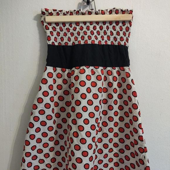 Dresses & Skirts - 2/$10🌼 red polka dot strapless dress